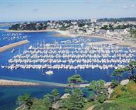 The marina of Trébeurden on the pink granite coast